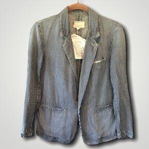 CURRENT/ELLIOTT Co-Ed Academic striped blazer